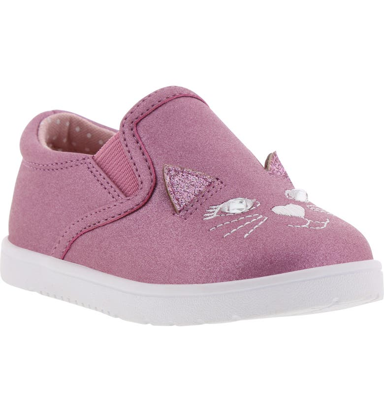 BØRN Bailey Jaslyna Slip-On Glitter Sneaker, Main, color, FUCHSIA
