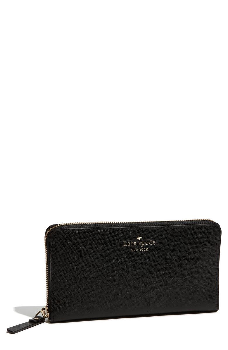 KATE SPADE NEW YORK 'mikas pond - lacey' zip around wallet, Main, color, 001