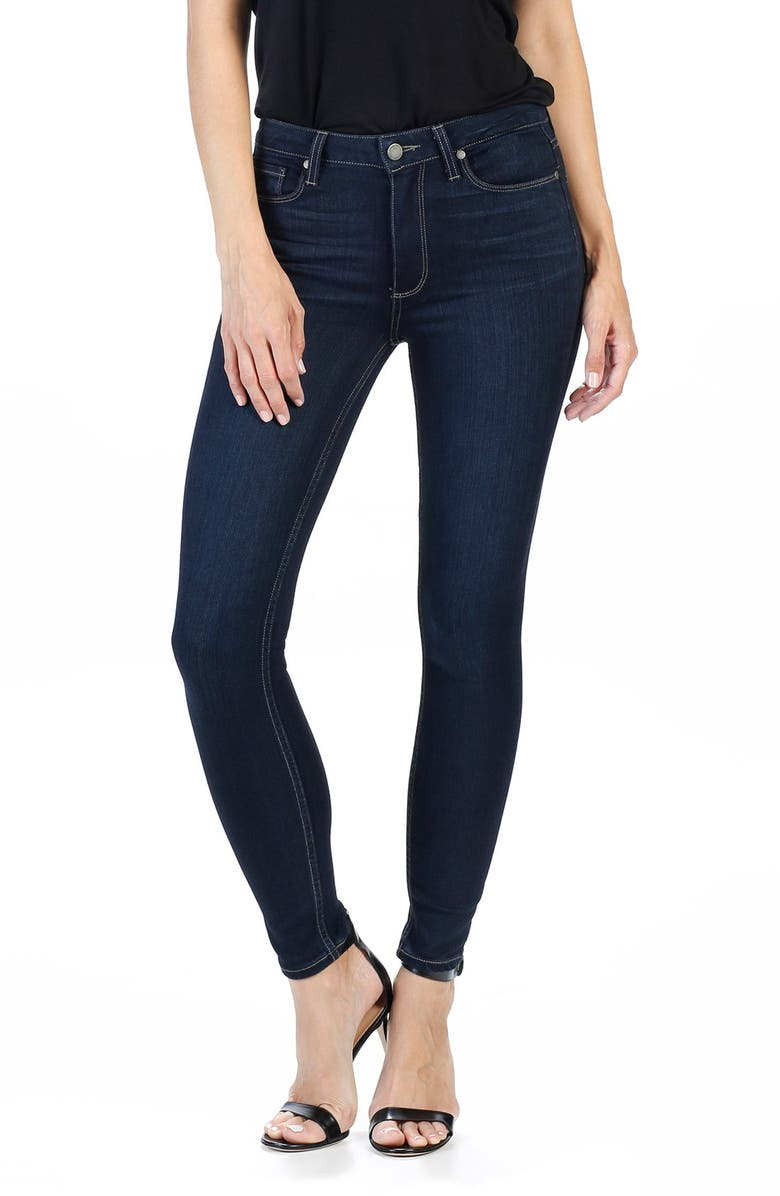 PAIGE Transcend Hoxton High Rise Ankle Skinny Jeans, Main, color, 400