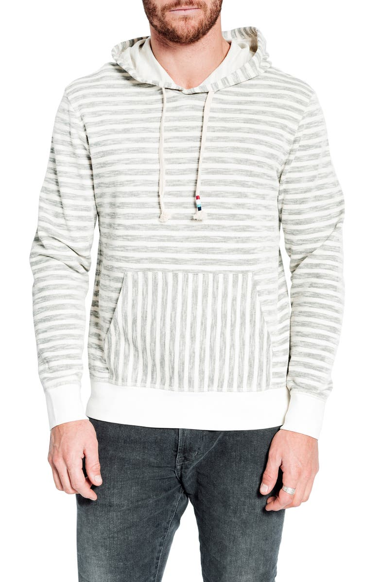 SOL ANGELES Regular Fit Stripe Pullover Hoodie, Main, color, NATURAL