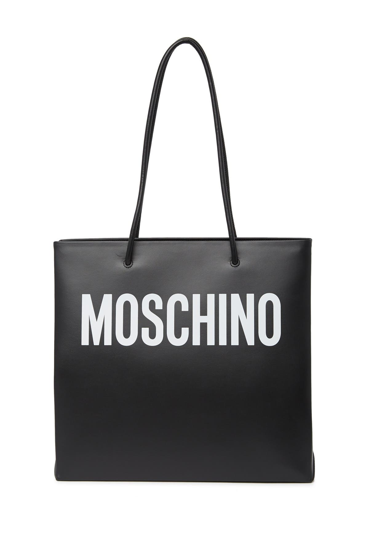 Image of MOSCHINO Two-Tone Logo Tote Bag