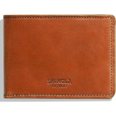 Shinola Harness Slim 2.0 Bifold Leather Wallet - Brown