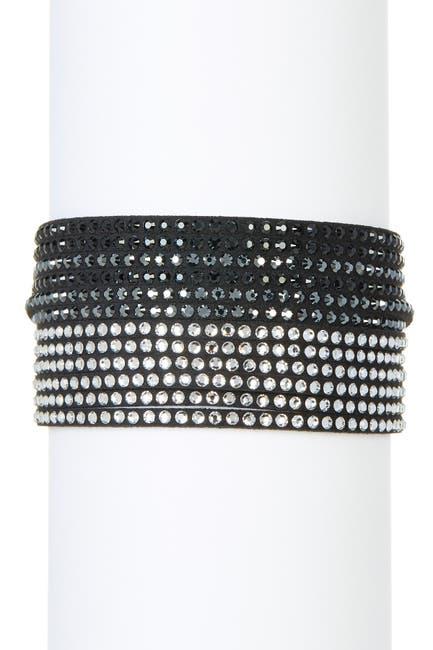 Image of Swarovski Multi Row Swarovski Crystal Wrap Bracelet