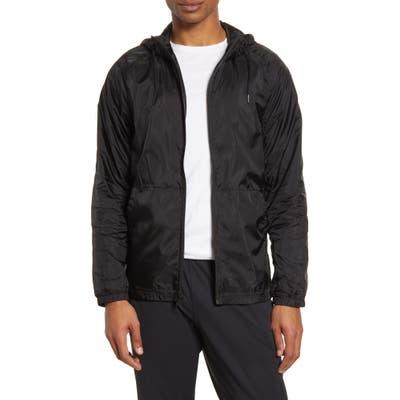 Zella Hooded Mesh Inset Rain Jacket