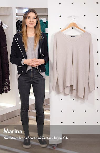 V-Neck Asymmetrical Boxy Wool Sweater, sales video thumbnail