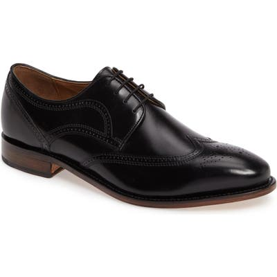 Johnston & Murphy Collins Wingtip, WW - Black