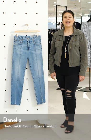 Isabelle High Waist Split Hem Ankle Straight Leg Jeans, sales video thumbnail