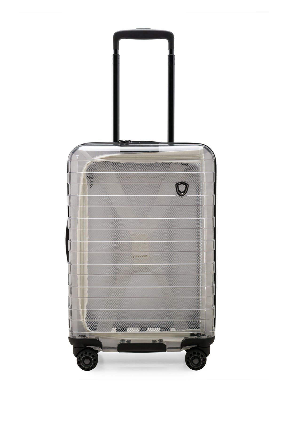 """Image of Traveler's Choice Luggage Millennial Special Edition 21"""" Hardside Carry-On Spinner & Power Bank"""