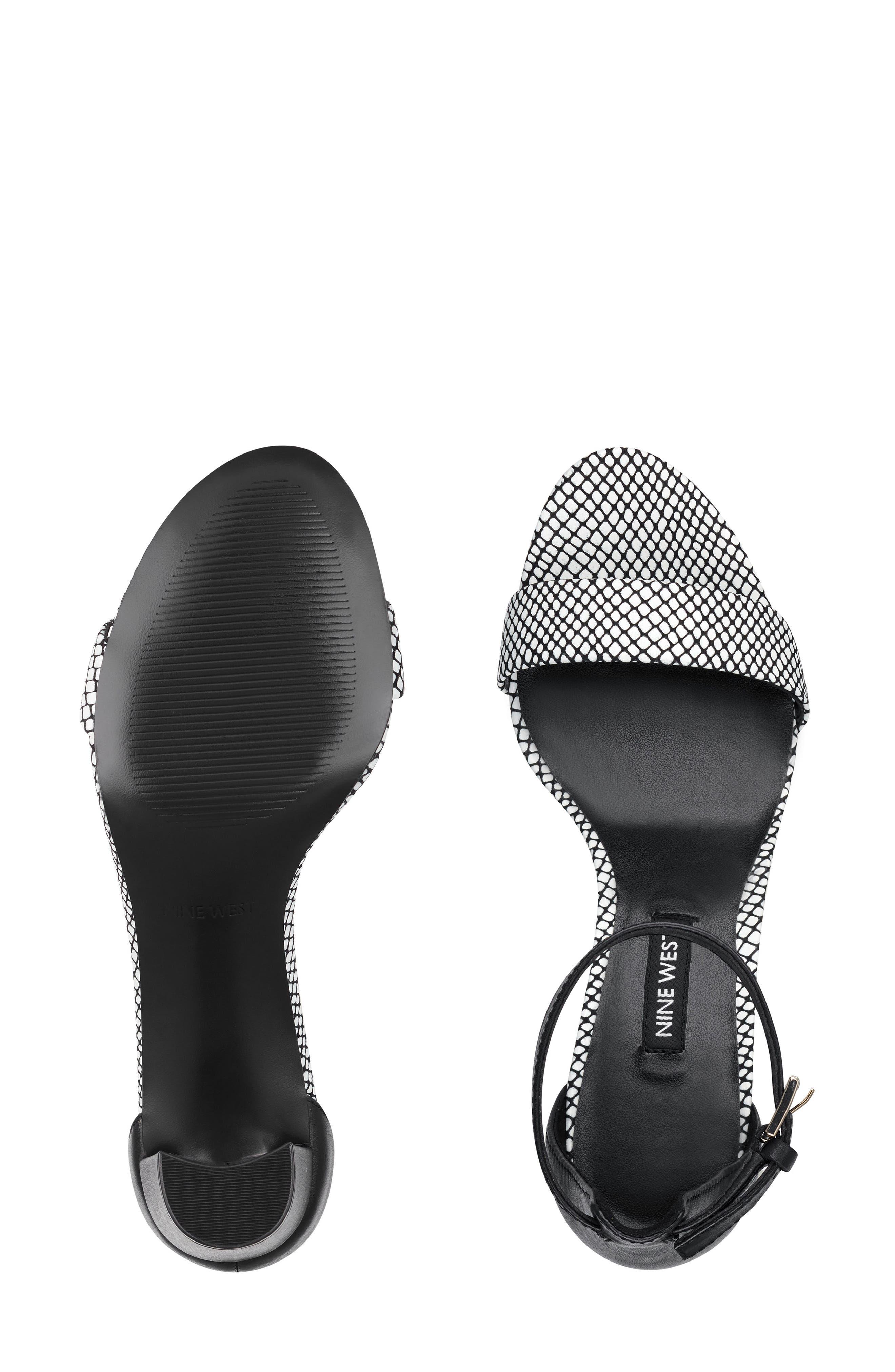 ,                             Pruce Ankle Strap Sandal,                             Alternate thumbnail 9, color,                             BLACK/ WHITE LEATHER