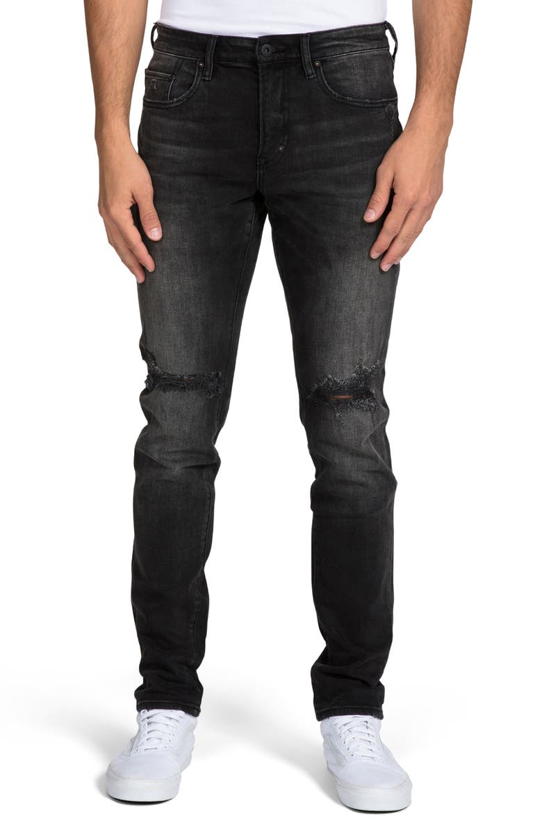 PRPS Le Sabre Ripped Slim Fit Jeans, Main, color, 001