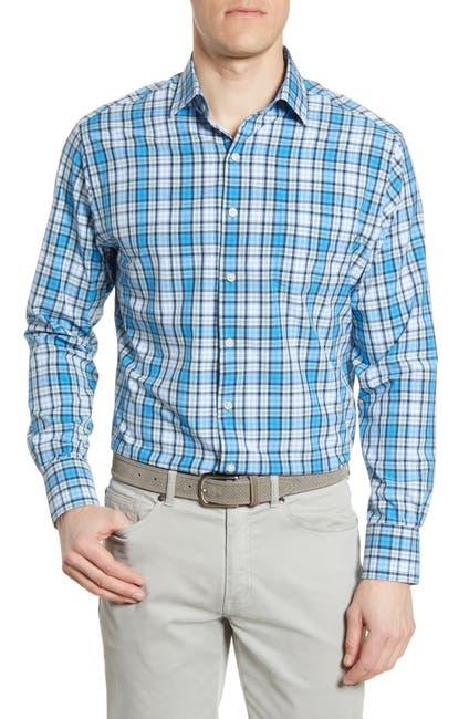 Image of Peter Millar Natural Plaid Shirt