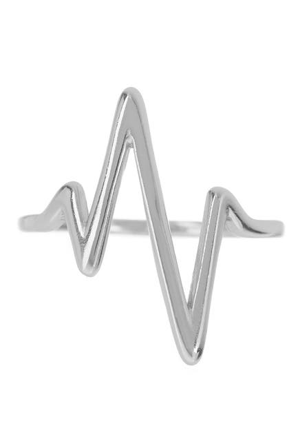 Image of Sterling Forever Sterling Silver Heart Beat Ring
