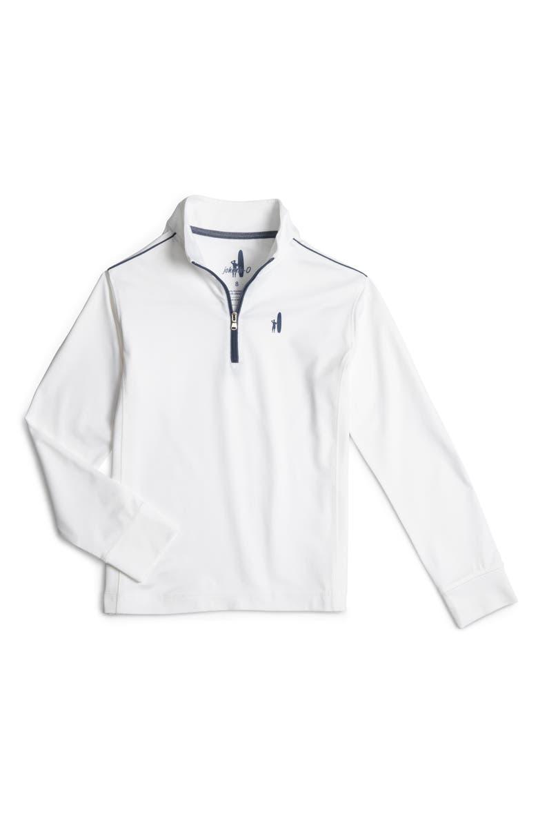 JOHNNIE-O Lammie Quarter Zip Pullover, Main, color, WHITE