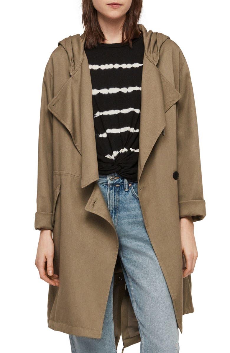 ALLSAINTS Bexley Parker Hooded Jacket, Main, color, 304