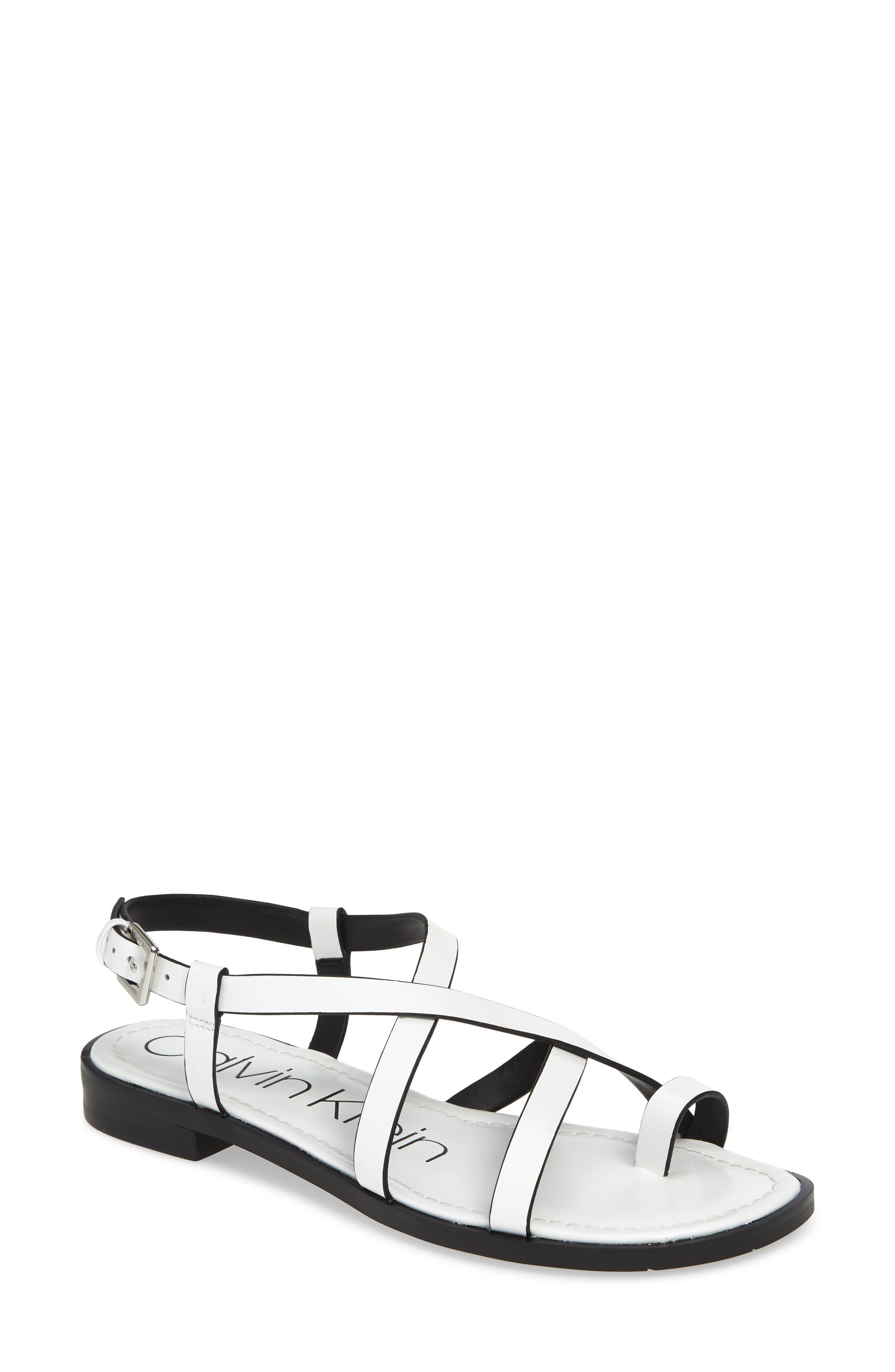 Calvin Klein Tica Sandal, White