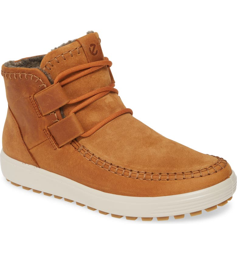ECCO Soft 7 Tred Ankle Boot, Main, color, AMBER OILED NUBUCK LEATHER