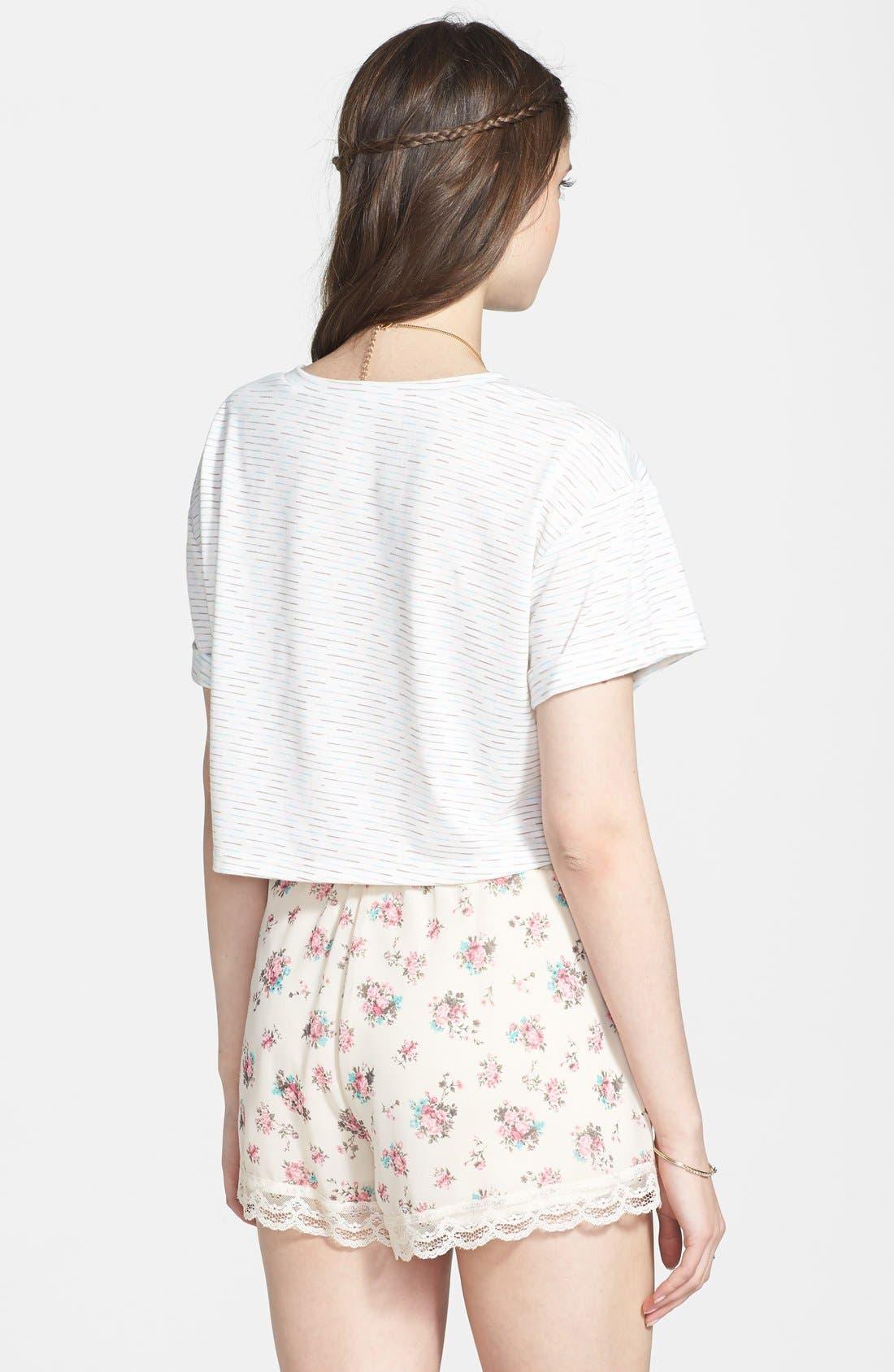 ,                             Lace Trim Floral Print Shorts,                             Alternate thumbnail 27, color,                             900