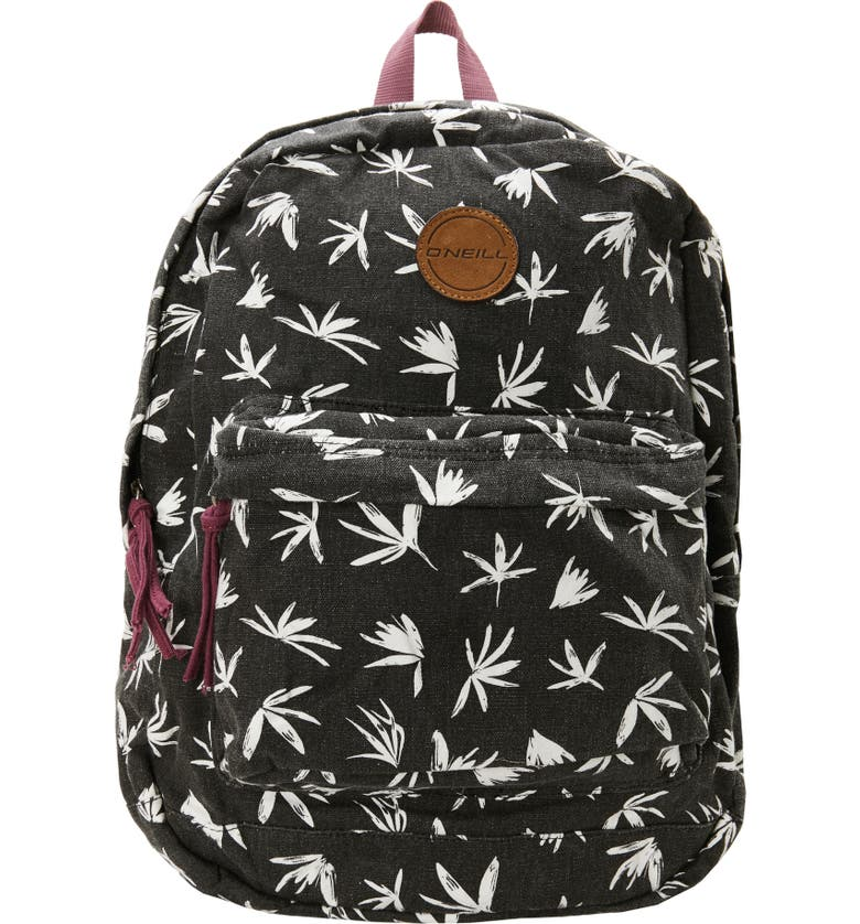 O'NEILL Blazin Floral Print Backpack, Main, color, 001