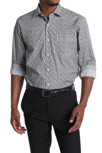 Image of Bugatchi Geo Print Classic Fit Shirt