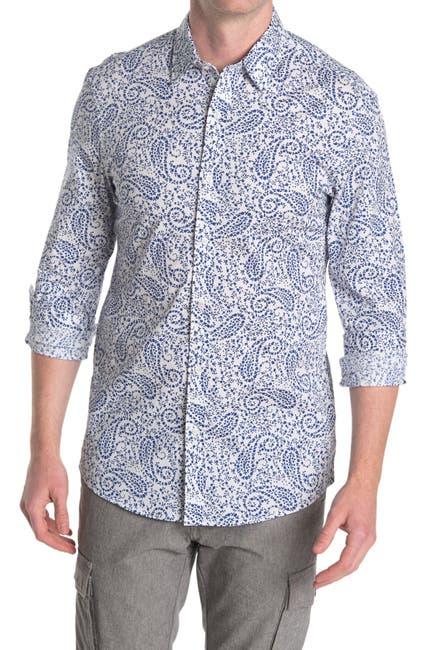 Image of Michael Kors Paisley Print Stretch Dress Shirt