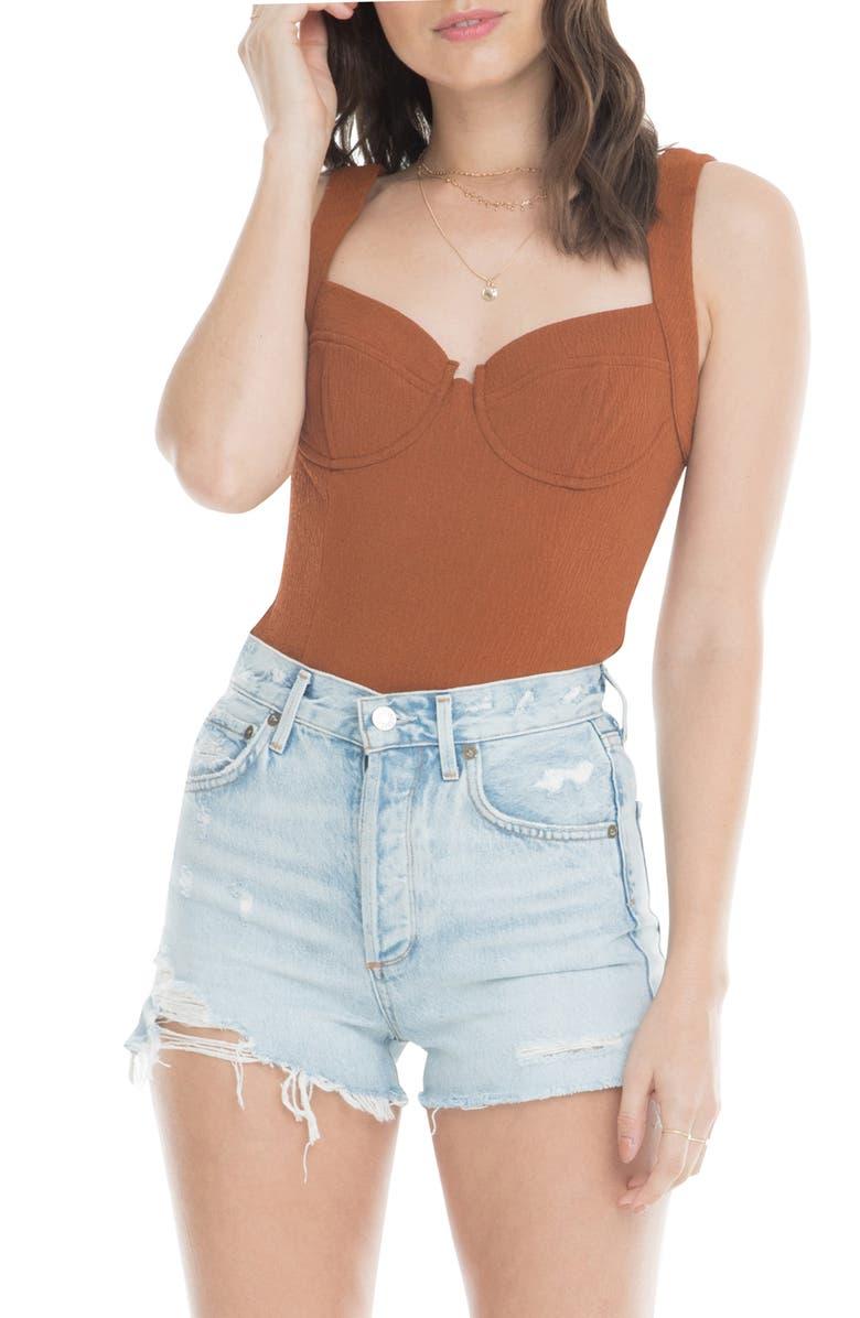 ASTR THE LABEL Bustier Bodysuit, Main, color, 200