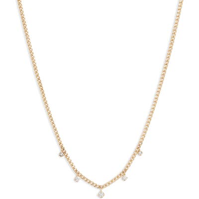 Zoe Chicco Extra-Small Curb Chain Necklace