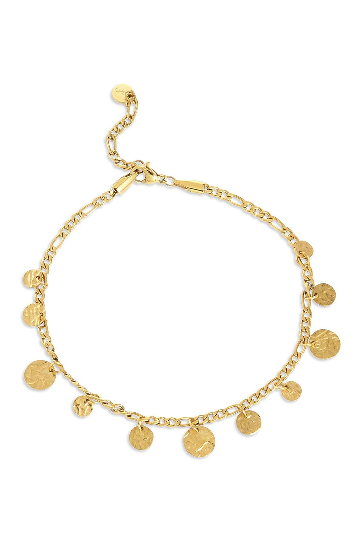 Image of Savvy Cie 18K Gold Plated Coin Anklet