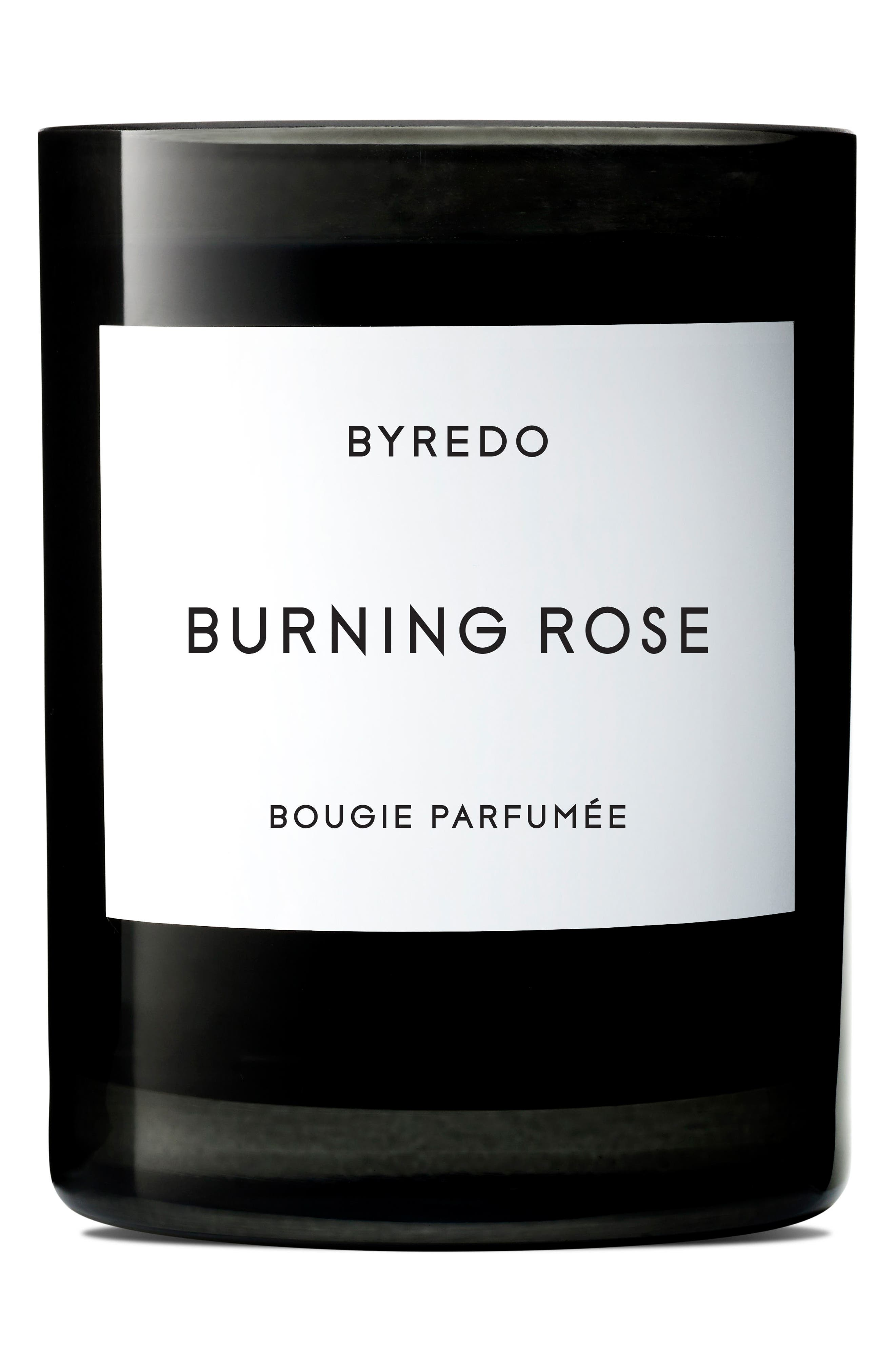 Burning Rose Candle, Main, color, NO COLOR