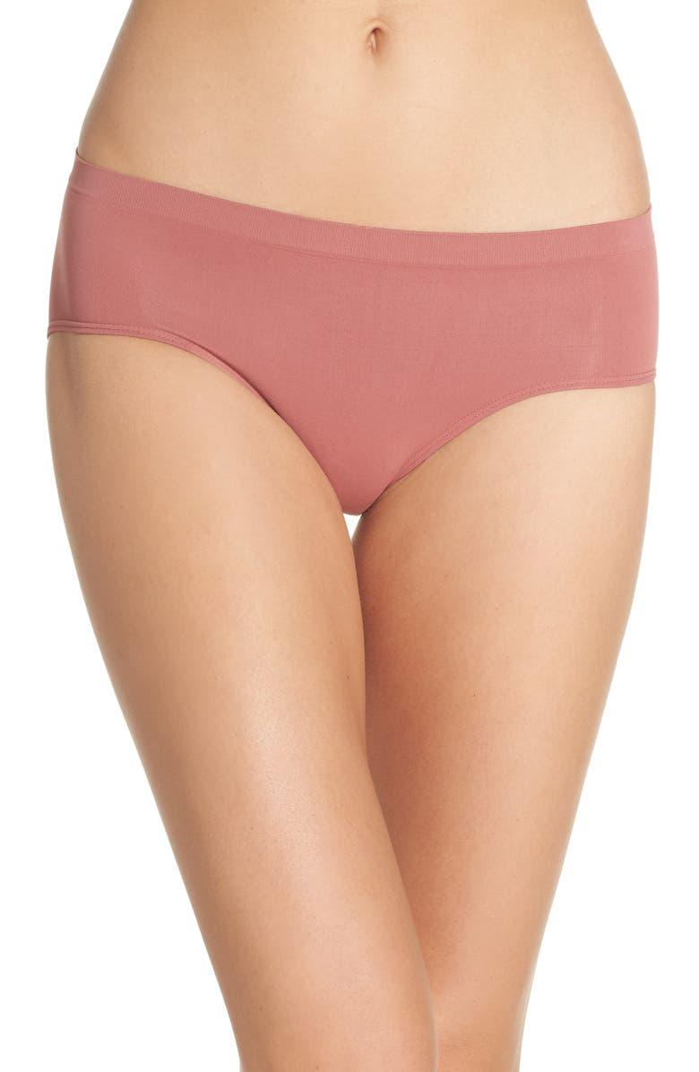 HALOGEN<SUP>®</SUP> Seamless Hipster Briefs, Main, color, PINK TAFFY