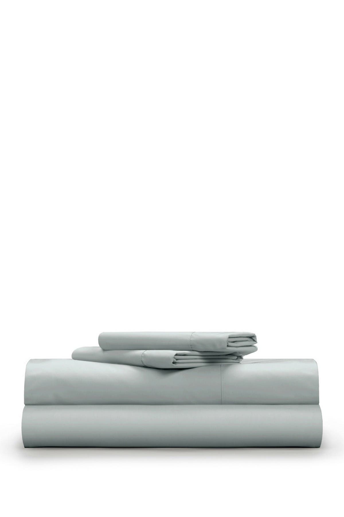 Image of Pillow Guy King Classic Cool & Crisp 100% Cotton Percale Sheet Set - Light Grey