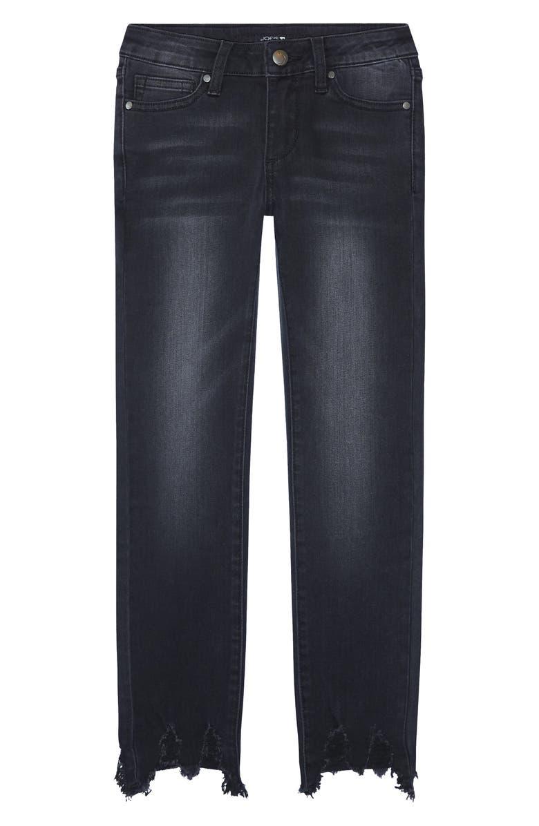 JOE'S The Rocker Raw Hem Ankle Skinny Jeans, Main, color, PEW-PEWTER