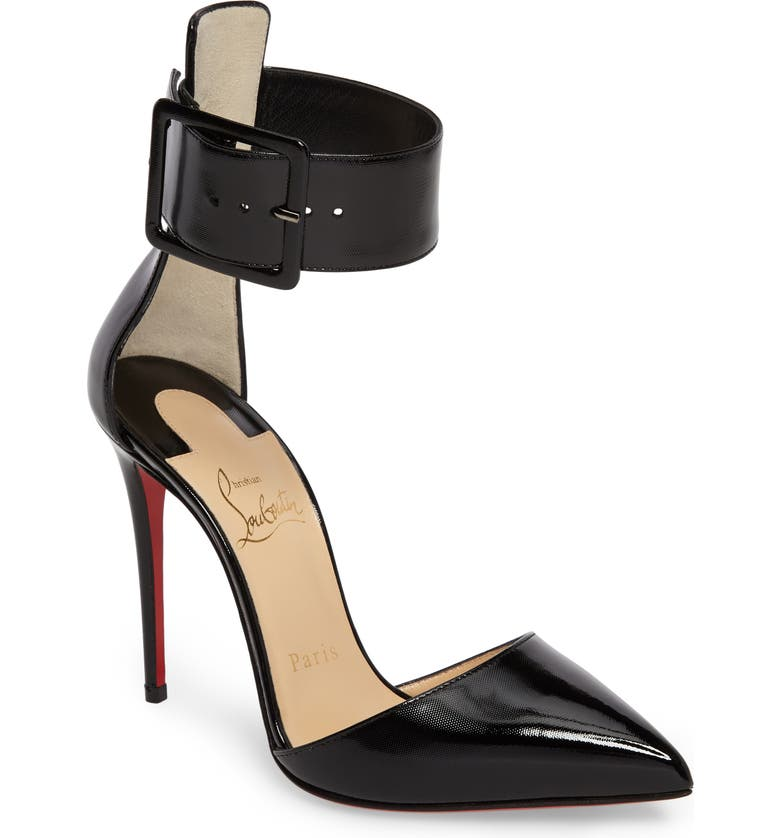 CHRISTIAN LOUBOUTIN Harler Ankle Strap Pump, Main, color, 001