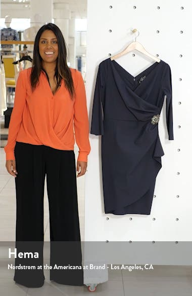 Embellished Ruched Sheath Dress, sales video thumbnail