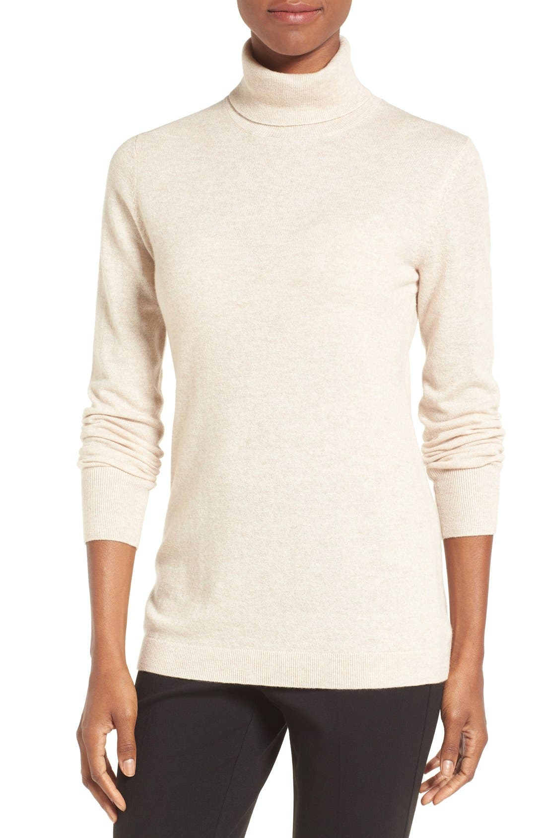,                             Long Cashmere Turtleneck Sweater,                             Main thumbnail 18, color,                             260