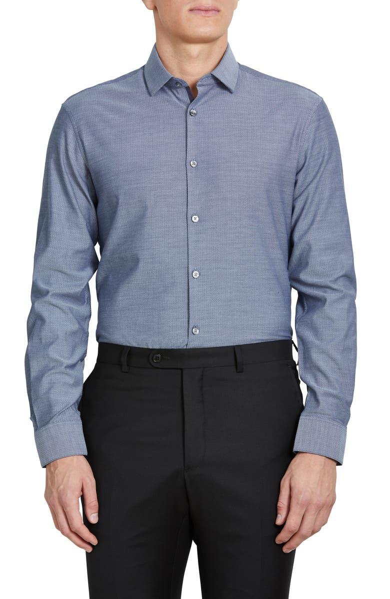 JOHN VARVATOS STAR USA Slim Fit Stretch Dress Shirt, Main, color, 478