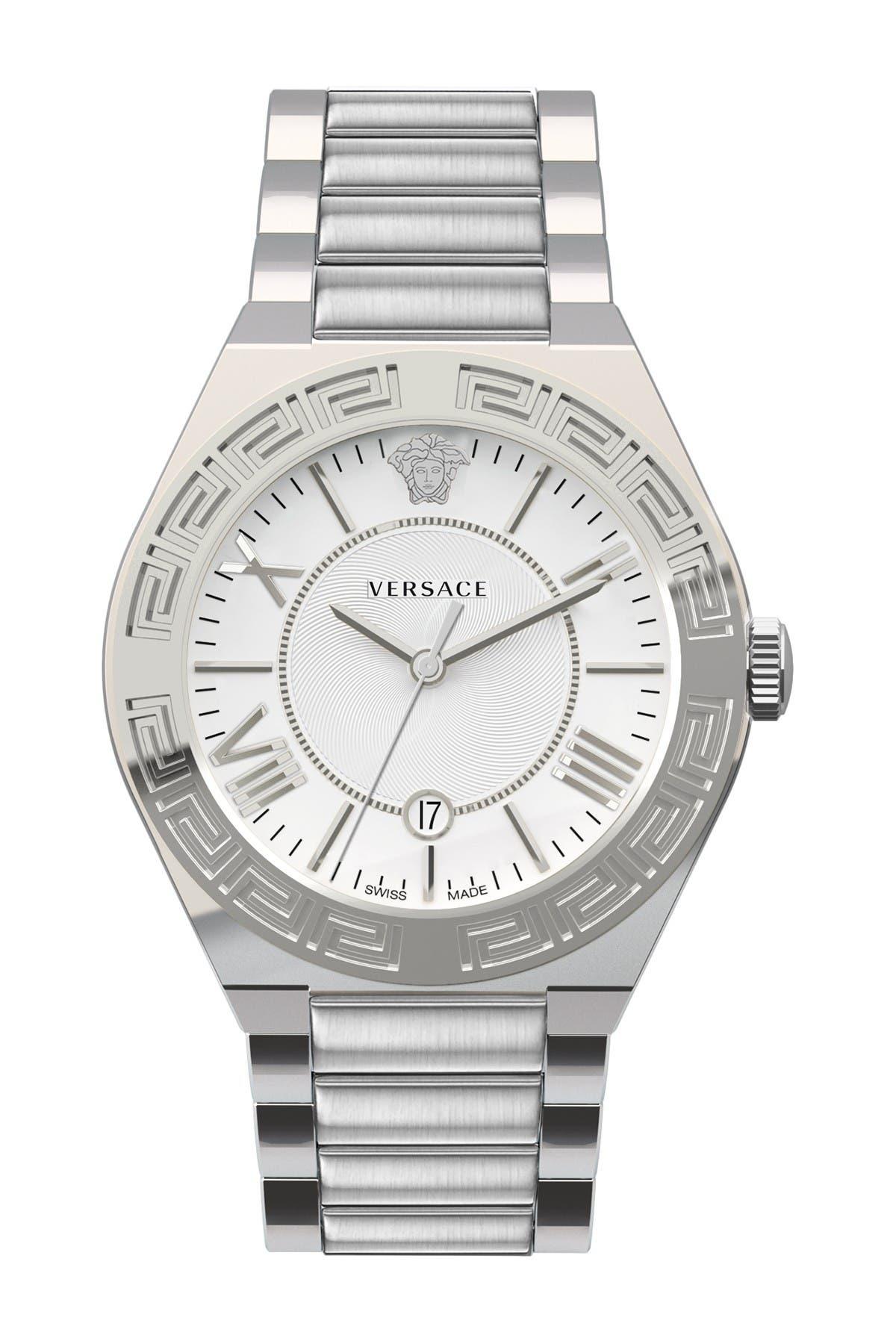 Image of Versace Men's Swiss Quartz Bracelet Watch, 39mm