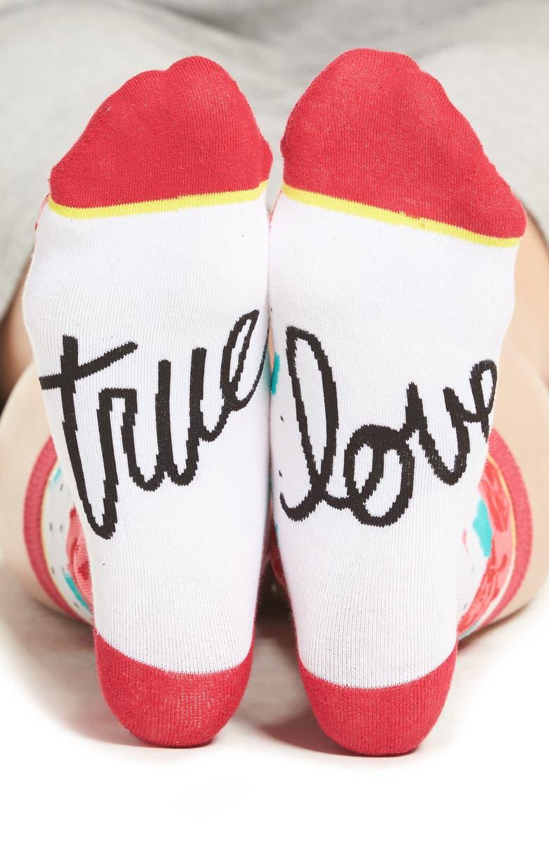 WOVEN PEAR True Love Crew Socks, Main, color, 100