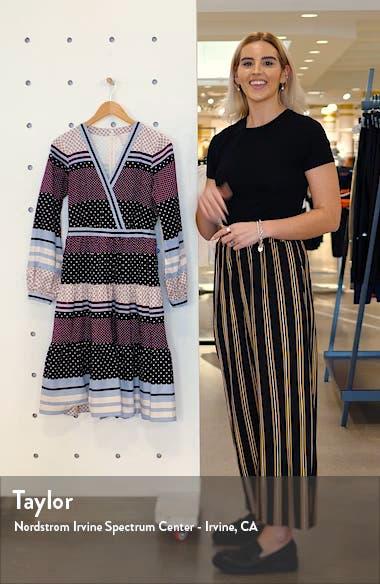 Dakota Mixed Print Long Sleeve Fit & Flare Dress, sales video thumbnail