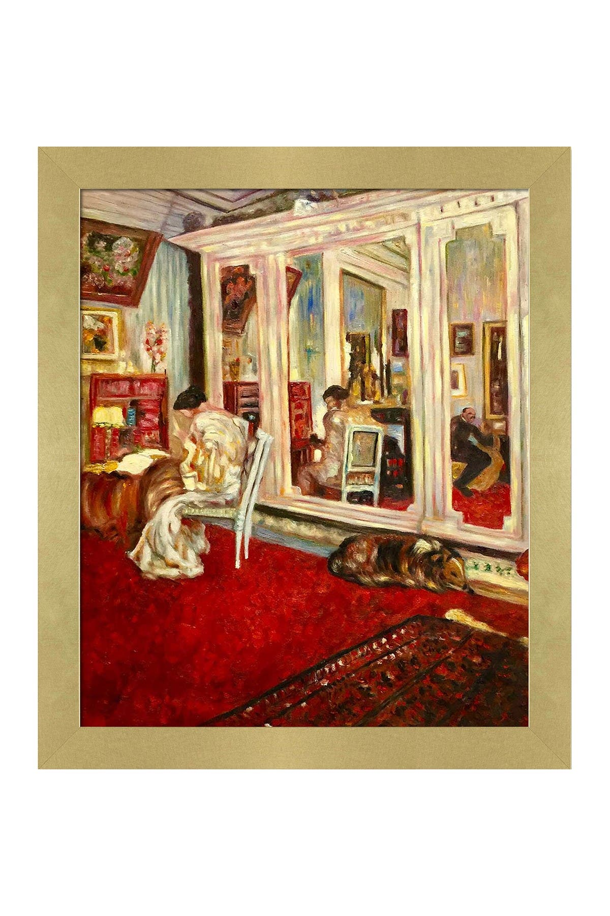 """Image of Overstock Art The Hessels in Their Dressing Room with Semplice Specchio Frame, 24"""" x 28"""""""