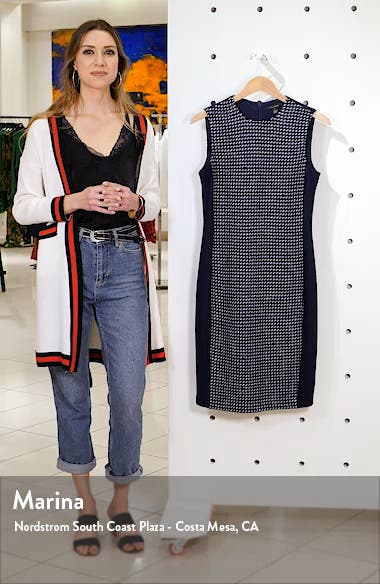 Dotted Inlay Tweed Knit Dress, sales video thumbnail