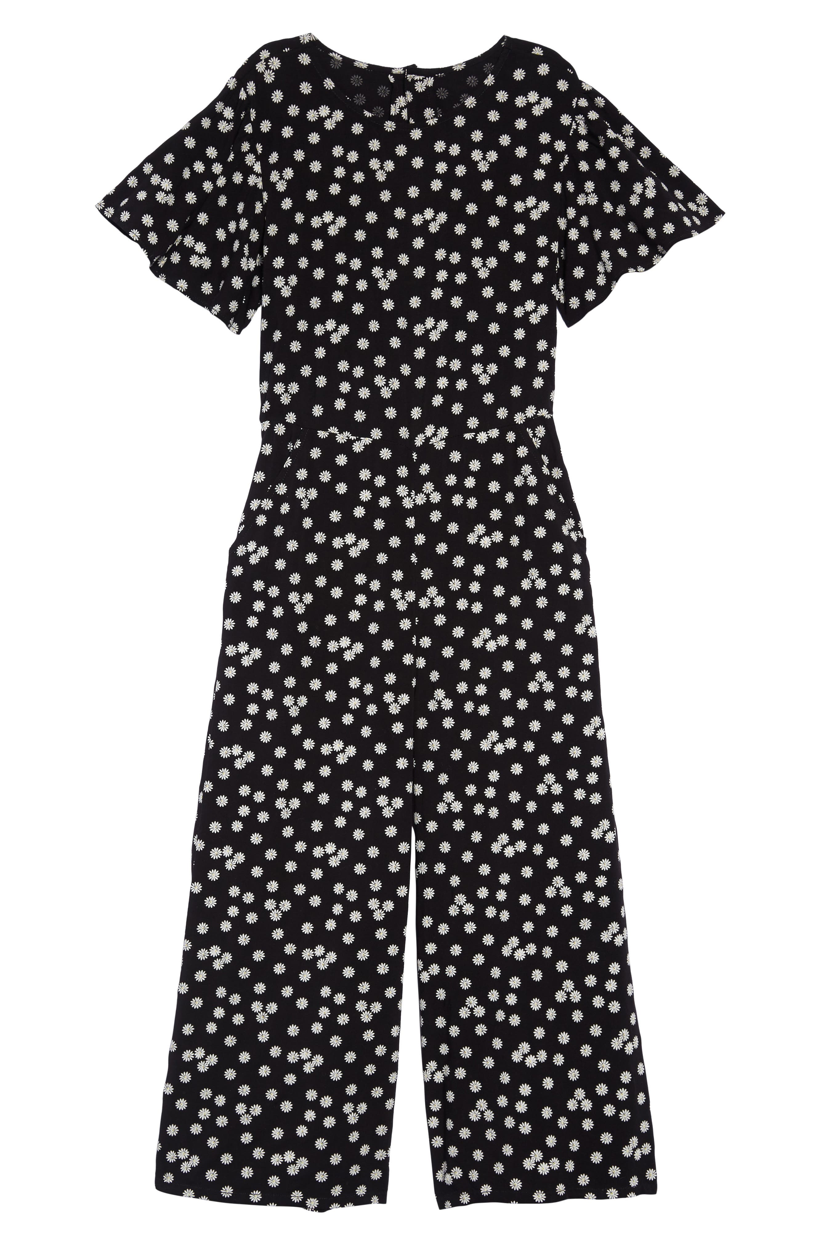 Girls Tucker  Tate Look Back Print Jumpsuit Size XL (1416)  Black