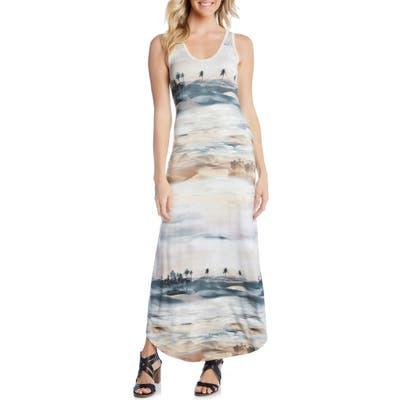 Karen Kane Palm Tree Print Maxi Dress, Brown