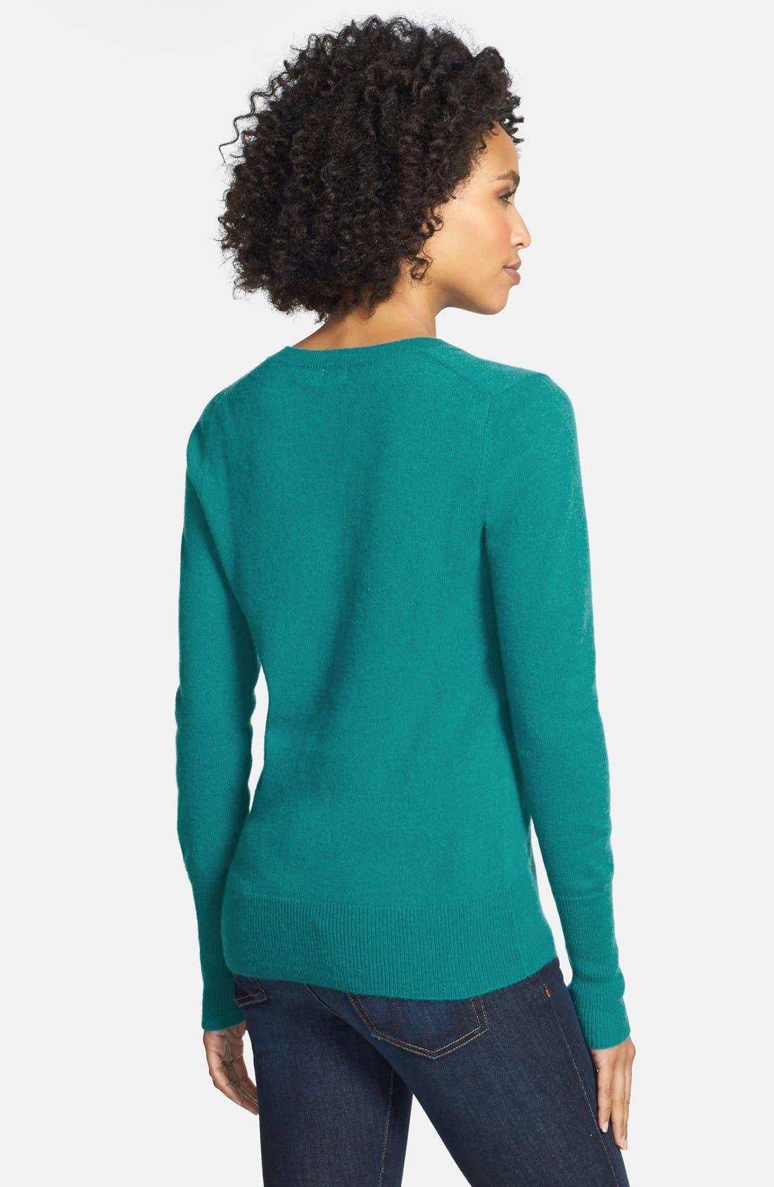 ,                             Cashmere V-Neck Sweater,                             Alternate thumbnail 49, color,                             441