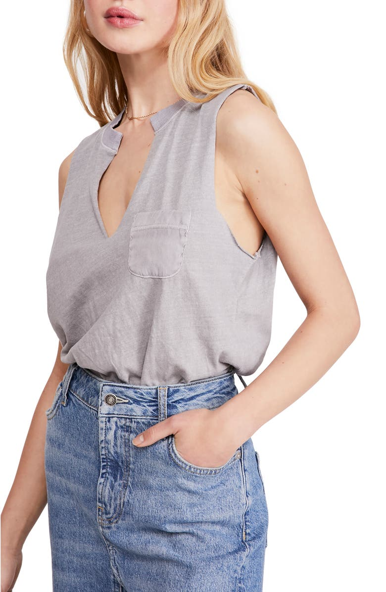 FREE PEOPLE In Your Pocket Bodysuit, Main, color, BLACK