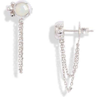 Anzie Bonheur Bubbling Brook Chain Detail Stud Earrings