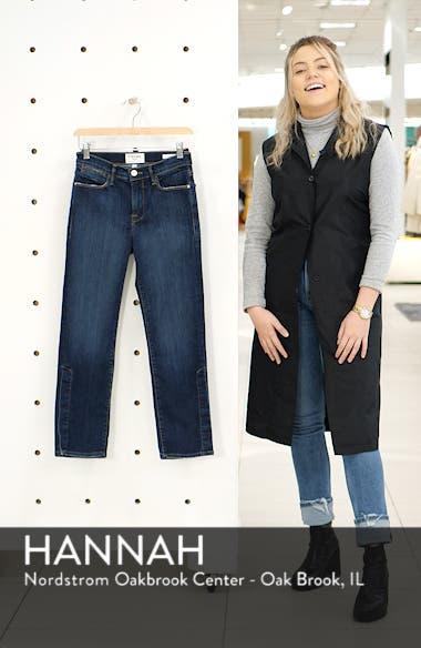 Le High Straight Snap Away Hem Jeans, sales video thumbnail