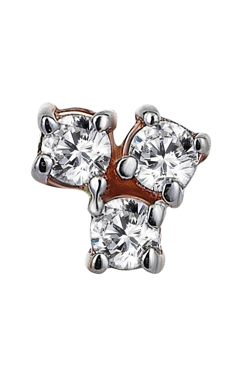 KISMET BY MILKA Spring Lightbeam Single Diamond Stud Earring, Main, color, 712