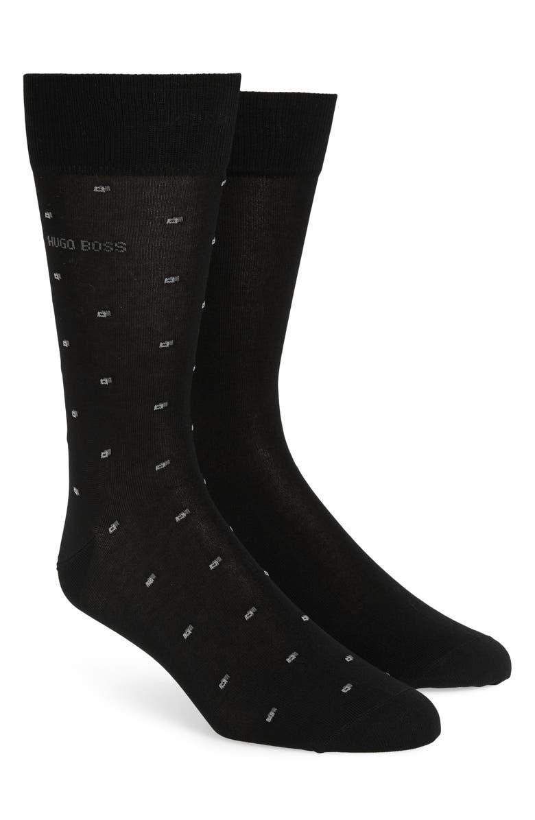 BOSS Assorted 2-Pack Dress Socks, Main, color, BLACK