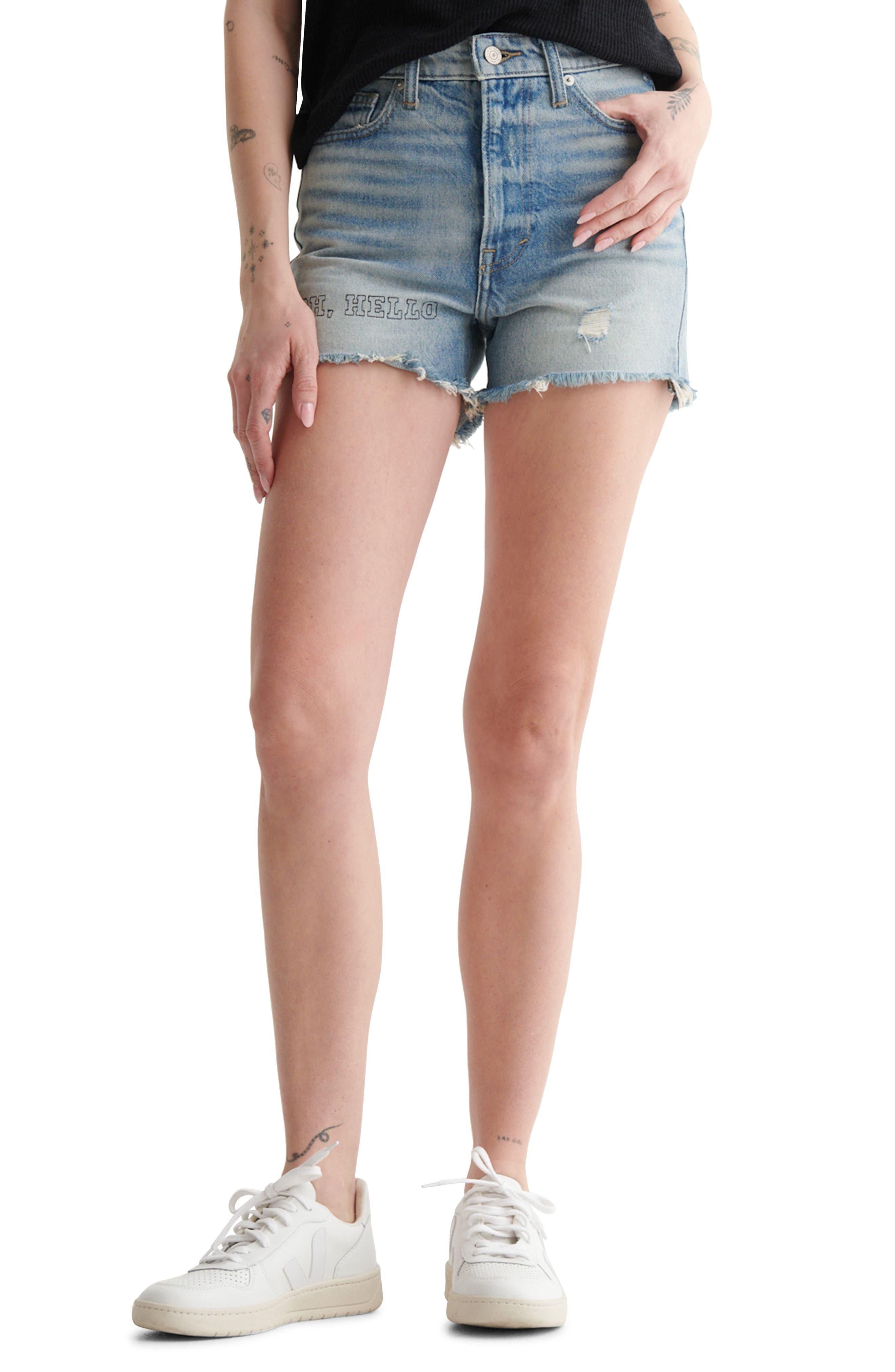 High Waist Cut Off Denim Shorts