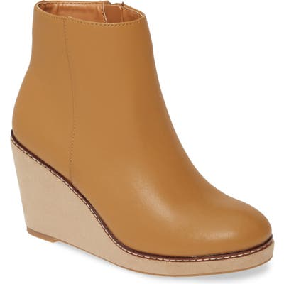 Kensie Hatley Wedge Bootie- Brown